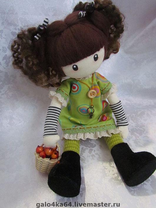 Человечки ручной работы. Ярмарка Мастеров - ручная работа. Купить Кукла ГАБИ. Handmade. Текстильная кукла, хлопок