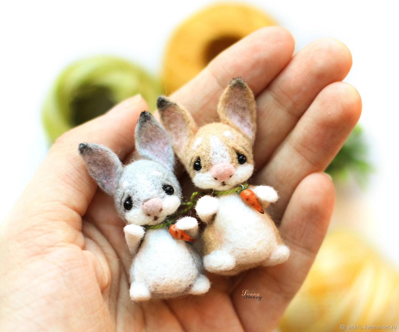 валяние игрушки пасхальный кролик фото великолепного цвета