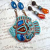 Украшения handmade. Livemaster - original item Necklace and earings Blue Lagoon. Handmade.