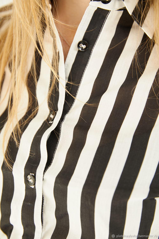 Блузка в полоску, Рубашки, Москва,  Фото №1