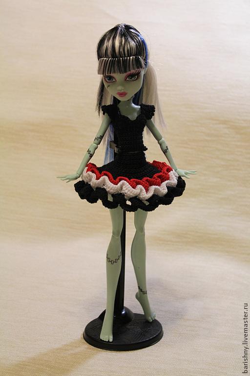 Одежда для кукол ручной работы. Ярмарка Мастеров - ручная работа. Купить Платье для Monster High. Handmade. Monster high
