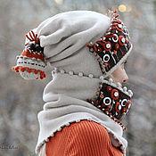 Аксессуары ручной работы. Ярмарка Мастеров - ручная работа Полшага до зимы. (Шапка+снуд). Handmade.