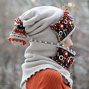 Аксессуары handmade. Livemaster - original item Half step to winter. ( Cap Snood). Handmade.