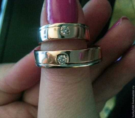 кольца с двумя бриллиантами  78000 руб