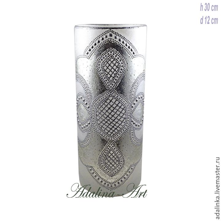 КРИСТИ SILVER ваза для цветов