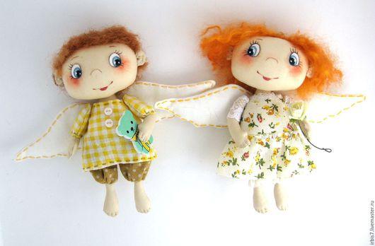 Коллекционные куклы ручной работы. Ярмарка Мастеров - ручная работа. Купить Парочка ангелочков. Handmade. Комбинированный, мальчик, мальчик и девочка