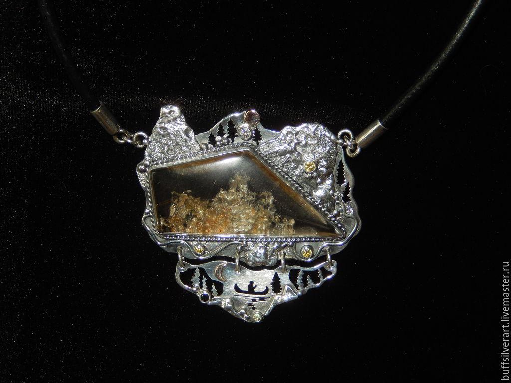 Pendant silver 'Threshold, Kumi-koska', Pendants, Ekaterinburg,  Фото №1