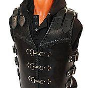 Одежда handmade. Livemaster - original item Motorcycle heavy leather vest. Handmade.
