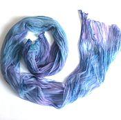 Scarves handmade. Livemaster - original item Batik Stole Gas-chiffon