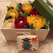 Цветы и флористика ручной работы. Ярмарка Мастеров - ручная работа Сладкая коробочка с совой. Handmade.