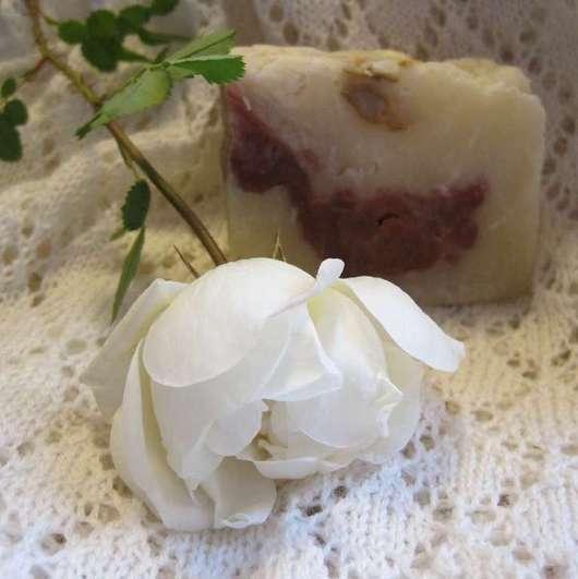 Мыло ручной работы. Ярмарка Мастеров - ручная работа. Купить мыло с нуля «Белые розы». Handmade. Белый, натуральное мыло