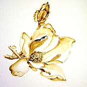 Картины и панно ручной работы. Ярмарка Мастеров - ручная работа Кофейный аромат - Южный цветок. Handmade.