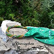 Украшения ручной работы. Ярмарка Мастеров - ручная работа Оплетенный бисером шарф Стрекозы. Handmade.