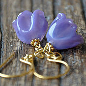 Украшения handmade. Livemaster - original item Earrings flowers Lavender bells. Handmade.