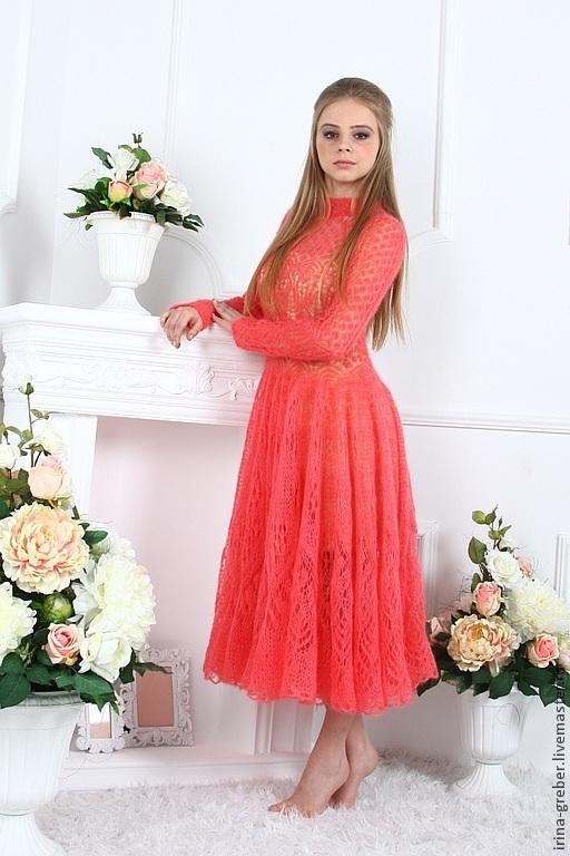 """Платья ручной работы. Ярмарка Мастеров - ручная работа. Купить Платье """"Я прекрасна"""". Handmade. Коралловый, вечернее платье"""