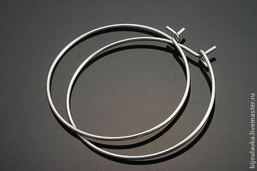 Для украшений ручной работы. Ярмарка Мастеров - ручная работа. Купить Швензы круглые, диаметр 30 мм, родиевое покрытие, Южная Корея. Handmade.