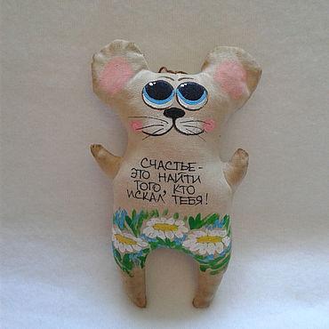 Куклы и игрушки ручной работы. Ярмарка Мастеров - ручная работа Игрушки: Мышка кофейная. Handmade.
