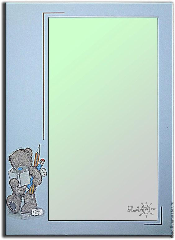 Зеркало настенное голубое по мотивам Me to you, Зеркала, Новосибирск,  Фото №1