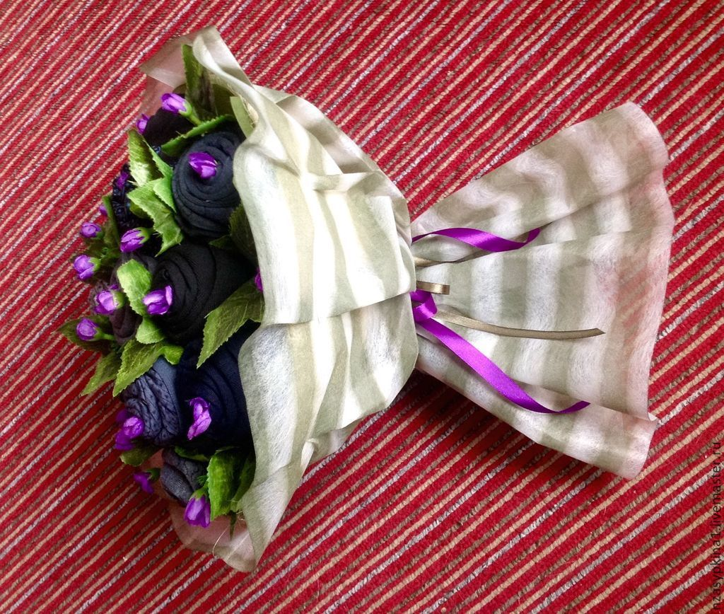 Цветы, букет из трусов своими руками