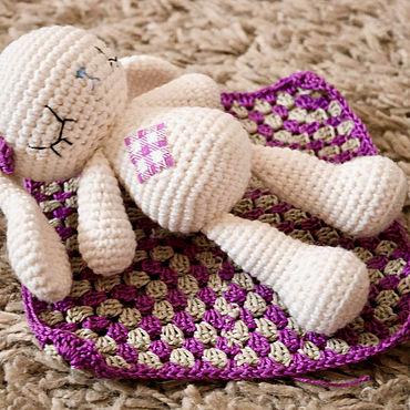 Куклы и игрушки ручной работы. Ярмарка Мастеров - ручная работа Заяц-сплюшка. Handmade.