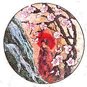 Картины и панно ручной работы. Ярмарка Мастеров - ручная работа В тени сакуры. Handmade.