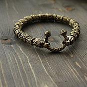 Украшения handmade. Livemaster - original item Bracelet with runes of bronze. Handmade.