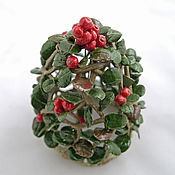 Сувениры и подарки handmade. Livemaster - original item Bell of Autumn cranberries. Ceramics. Handmade.