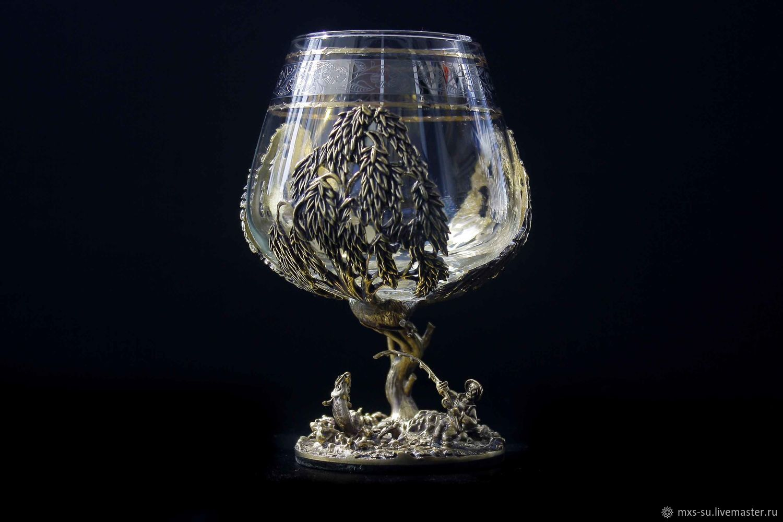 brandy glass. Fishing, Wine Glasses, Tyumen,  Фото №1