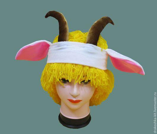 Детские карнавальные костюмы ручной работы. Ярмарка Мастеров - ручная работа. Купить Повязка на голову к костюму белая Козочка. Handmade.