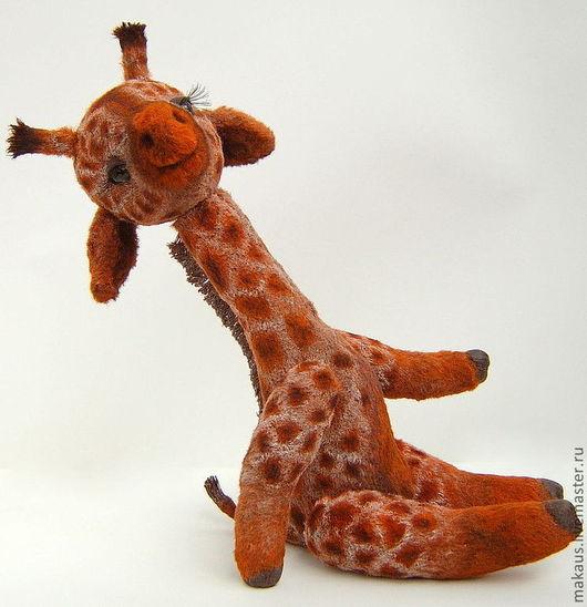 """Мишки Тедди ручной работы. Ярмарка Мастеров - ручная работа. Купить Жираф-тедди """"Венечка"""". Handmade. Рыжий, коллекционные игрушки"""
