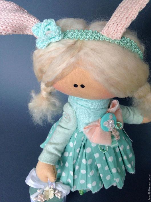 Коллекционные куклы ручной работы. Ярмарка Мастеров - ручная работа. Купить Зайка Эмма . Текстильная кукла. Handmade. Мятный, зайка
