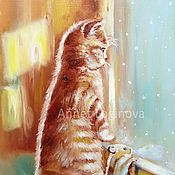 Pictures handmade. Livemaster - original item Snow?... Painting on canvas. Handmade.