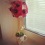 """Цветы и флористика ручной работы. Ярмарка Мастеров - ручная работа Кофейное деревце """"Кофе с малиной""""!!!. Handmade."""