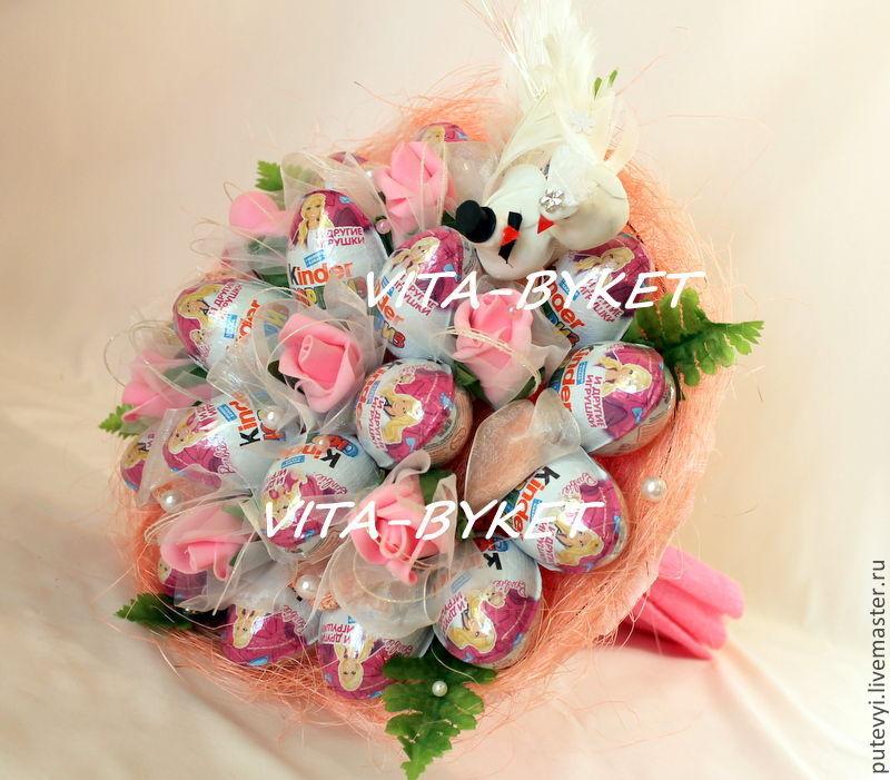 08f6ecaa2466 Купить Свадебный киндер- Подарки на свадьбу ручной работы. Свадебный киндер-букет  Букет из киндеров на свадьбу.