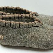 Обувь ручной работы. Ярмарка Мастеров - ручная работа Тапочки домашние на подошве (кожа). Handmade.