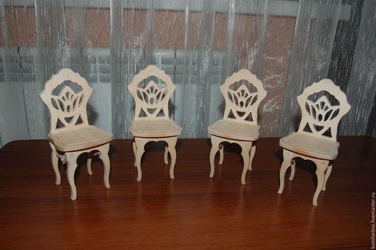 Кукольный стульчик 346.Заготовка для декупажа и росписи.