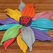 """Украшения ручной работы. Ярмарка Мастеров - ручная работа Брошь цветок """"Цветик-семицветик"""". Handmade."""