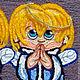 Люди, ручной работы. Картина вязанная из пряжи Ангелочки размер в раме 54 х 64. Маскаева Ольга (maskaevadecor). Интернет-магазин Ярмарка Мастеров.