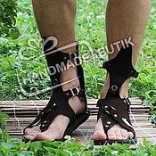 Обувь ручной работы manualidades. Livemaster - hecho a mano Sandalias de Gladiadores de la gamuza para hombres. Handmade.