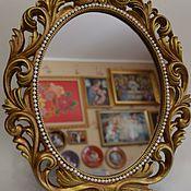 """Для дома и интерьера ручной работы. Ярмарка Мастеров - ручная работа Зеркало настольное """"Ажурное"""". Handmade."""