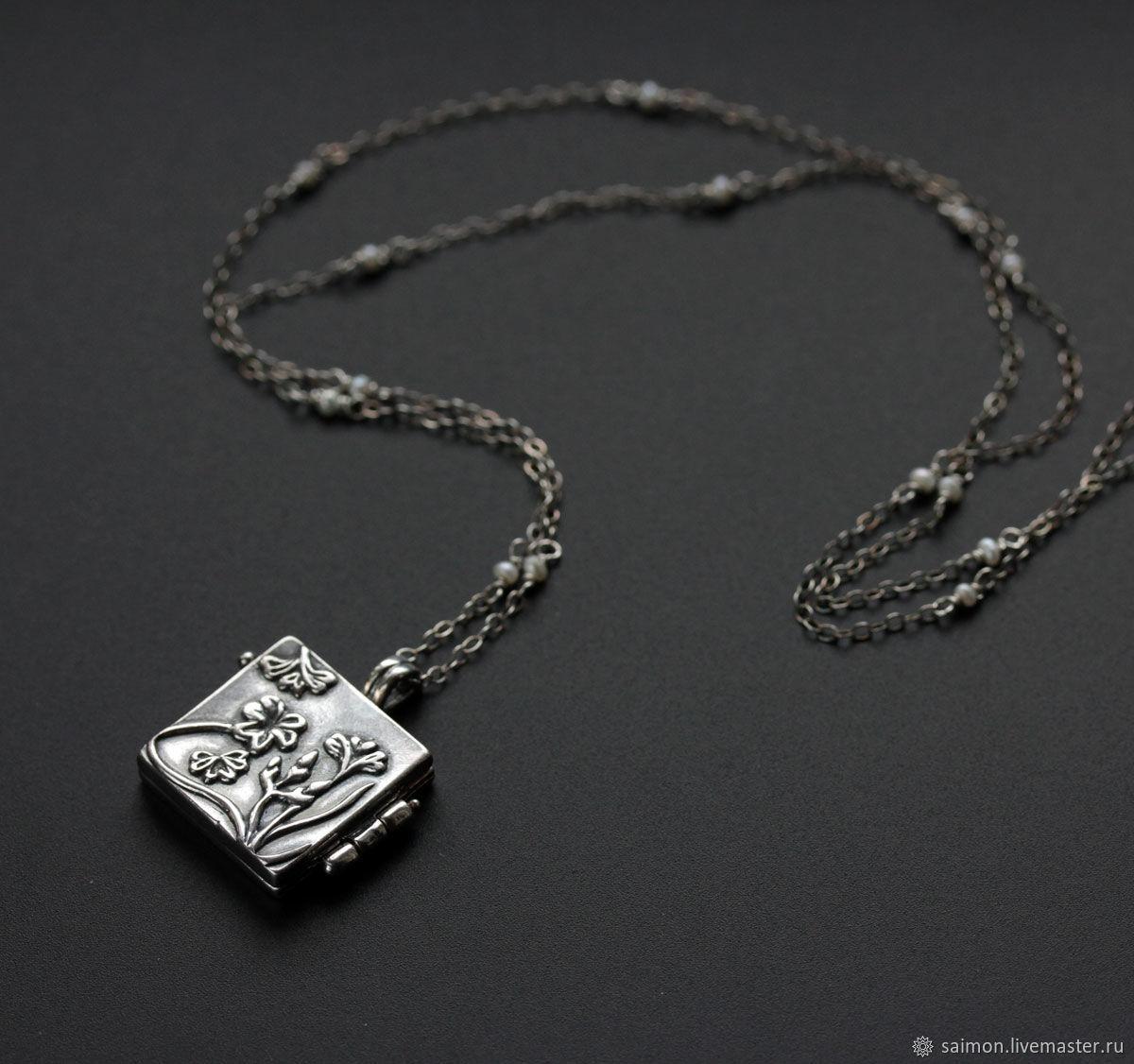 "Открывающийся серебряный медальон ""Spring glade"", Кулон, Москва,  Фото №1"