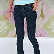 """Куклы и игрушки ручной работы. Ярмарка Мастеров - ручная работа Одежда для кукол """"Модные джинсы Miss"""". Handmade."""