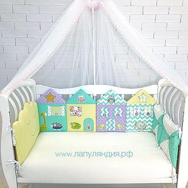 Текстиль ручной работы. Ярмарка Мастеров - ручная работа Бортики в кроватку для новорожденных. Handmade.