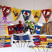Подарки к праздникам ручной работы. Ярмарка Мастеров - ручная работа день рождения в стиле супергерои. Handmade.