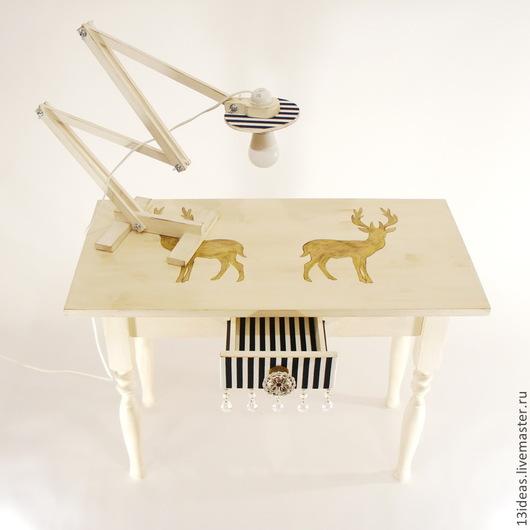 Мебель ручной работы. Ярмарка Мастеров - ручная работа. Купить Столик в стиле прованс с винтажной фурнитурой. Handmade. Белый