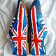 """Обувь ручной работы. Кеды женские  """"Британский флаг""""., кеды с рисунком, роспись кед. BelkaStyle -кеды, зонты, одежда. Интернет-магазин Ярмарка Мастеров."""