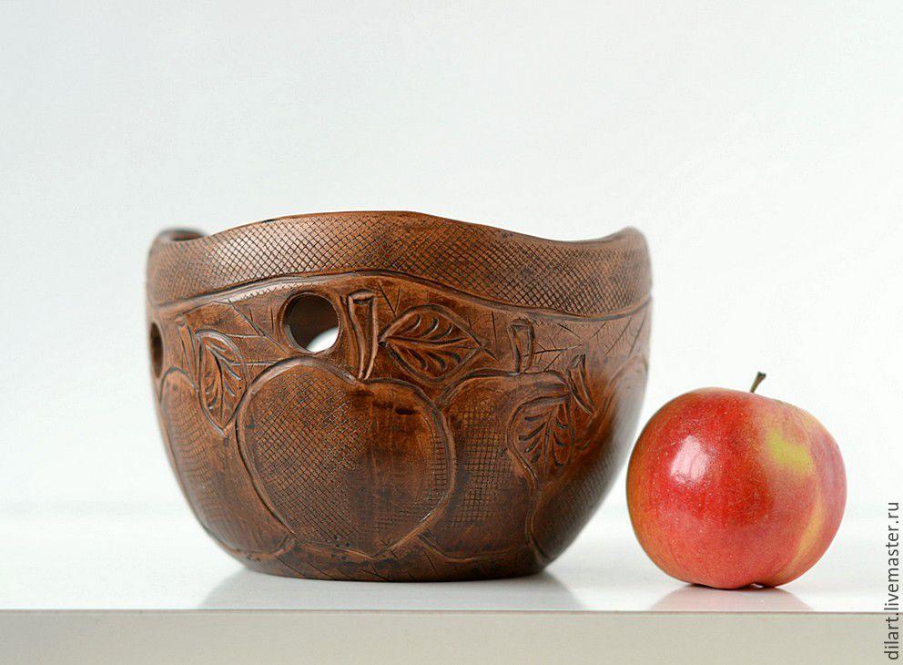 Клубочница керамическая Райский Сад чаша для вязания
