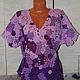 Блузки ручной работы. Ярмарка Мастеров - ручная работа. Купить блуза СИРЕНЕВЫЙ РАЙ 2. Handmade. Разноцветный, сцепное кружево