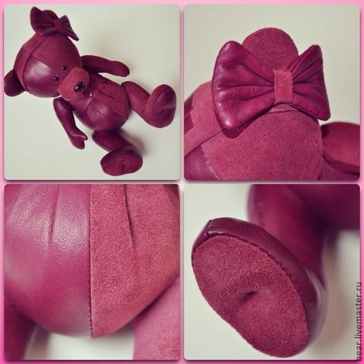 Мишки Тедди ручной работы. Ярмарка Мастеров - ручная работа. Купить Мишка кожаный PRUGNA. Handmade. Ручная авторская работа