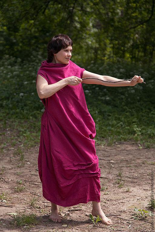 Платья ручной работы. Ярмарка Мастеров - ручная работа. Купить Платье Спираль. Handmade. Фуксия, платье без рукавов, для беременных
